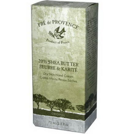 European Soaps, LLC, Pre de Provence, Shea Butter Dry Skin Hand Cream, Original, 2.5 fl oz (75 ml)