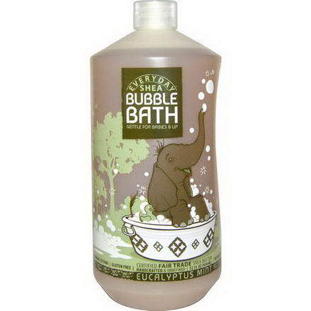 Everyday Shea, Bubble Bath, Eucalyptus Mint, 32 fl oz (950 ml)
