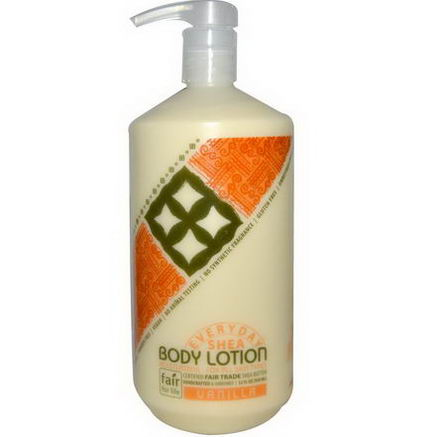 Everyday Shea, Moisturizing Body Lotion, Vanilla, 32 fl oz (950 ml)