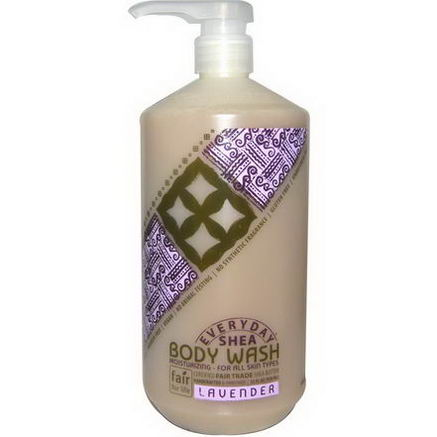 Everyday Shea, Moisturizing Body Wash, Lavender, 32 fl oz (950 ml)