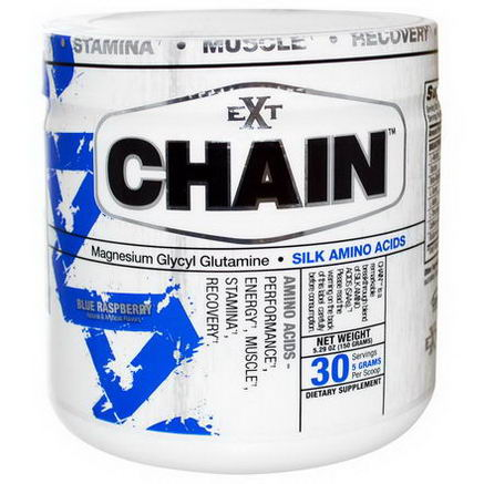 Ext Sports, Chain, Silk Amino Acids, Blue Raspberry, 5.29oz (150g)
