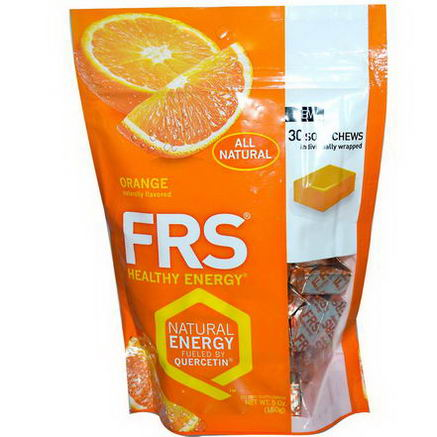 FRS Healthy Energy, Quercetin Chews, Orange, 30 Soft Chews, 5oz (150g)