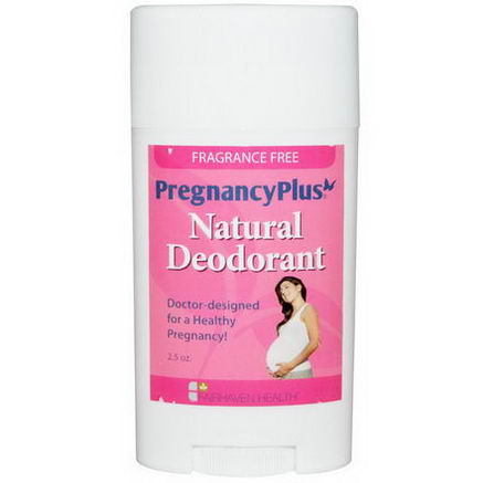 Fairhaven Health, PregnancyPlus, Natural Deodorant, Fragrance Free, 2.5oz