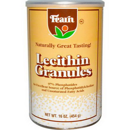 Fearn Natural Food, Lecithin Granules, 16oz (454g)