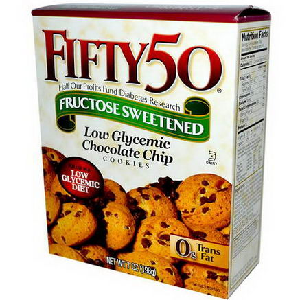 Fifty 50, Low Glycemic Chocolate Chip Cookies, 7oz (198g)