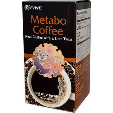 Fine USA Trading Inc. Metabo Coffee, 60 Packets, (1.1g) Each