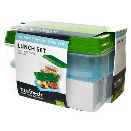 Fit & Fresh, Lunch Set, with Removable Ice Pack, 7 Piece Set