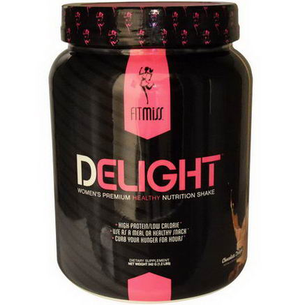 FitMiss, Delight, Women's Premium Healthy Nutrition Shake, Chocolate, 1.2 lbs (542g)