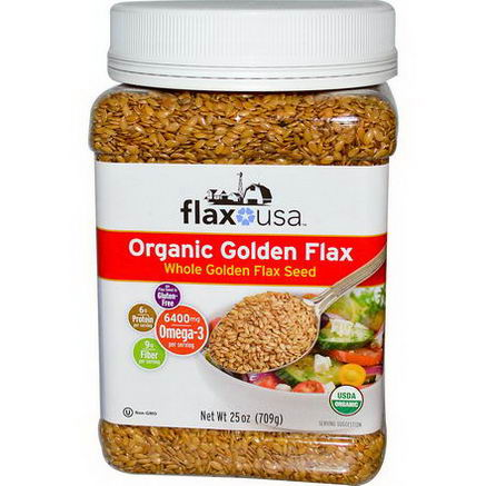 Flax USA, Inc. Organic Golden Flax, 25oz (709g)
