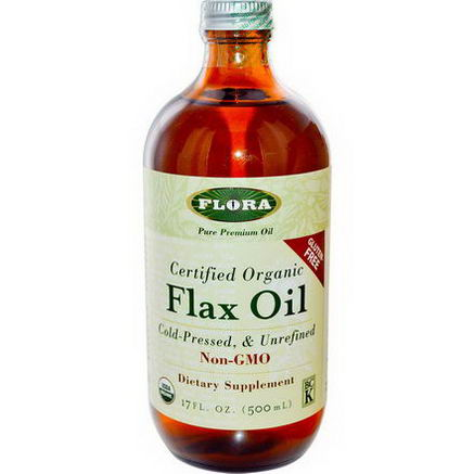 Flora, Certified Organic Flax Oil, 17 fl oz (500 ml)
