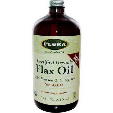 Flora, Certified Organic Flax Oil, 32 fl oz (946 ml)