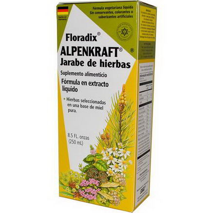 Flora, Floradix, Alpenkraft Herbal Syrup, Liquid Extract Formula, 8.5 fl oz (250 ml)