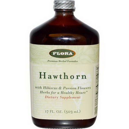 Flora, Hawthorn, With Hibiscus & Passion Flowers, 17 fl oz (503 ml)