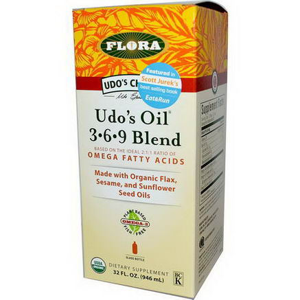 Flora, Udo's Choice, Udo's Oil 3-6-9 Blend, 32 fl oz (946 ml)