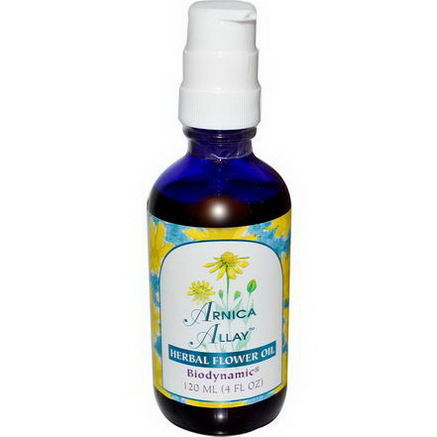 Flower Essence Services, Arnica Allay, Herbal Flower Oil, 4 fl oz (120 ml)