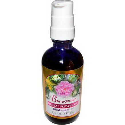 Flower Essence Services, Benediction, Herbal Flower Oil, 4 fl oz (120 ml)