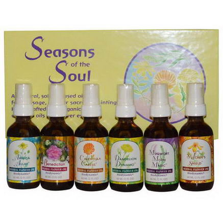 Flower Essence Services, Seasons of the Soul, 6 Bottles, 2 fl oz (60 ml) Each
