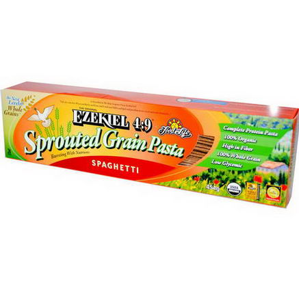 Food For Life, The Original Ezekiel 4:9, Sprouted Grain Pasta, Spaghetti, 454g