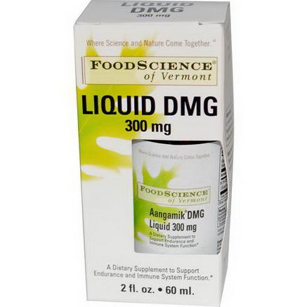 FoodScience, Aangamik DMG Liquid, 300mg, 2 fl oz (60 ml)