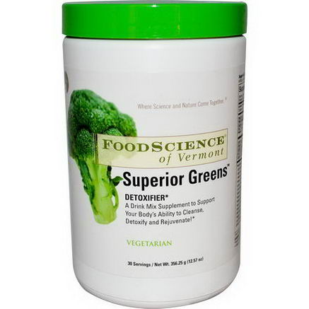 FoodScience, Superior Greens, 12.57oz (356.25g)