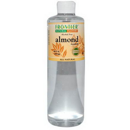 Frontier Natural Products, Almond Flavor, Alcohol Free, 16 fl oz (473 ml)