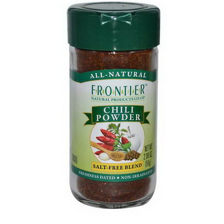 Frontier Natural Products, Chili Powder, Salt-Free Blend, 2.08oz (58g)