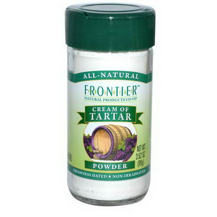 Frontier Natural Products, Cream of Tartar, Powder, 3.52oz (99g)