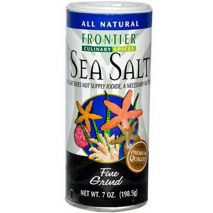 Frontier Natural Products, Culinary Spices, Sea Salt, Fine Grind, 7oz (198.5g)