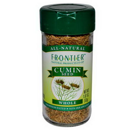 Frontier Natural Products, Cumin Seed, Whole, 1.87oz (53g)