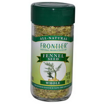Frontier Natural Products, Fennel Seed, Whole, 1.41oz (40g)