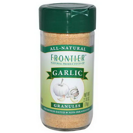 Frontier Natural Products, Garlic, Granules, 2.70oz (76g)