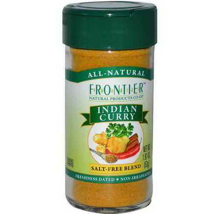 Frontier Natural Products, Indian Curry, Salt-Free Blend, 1.87oz (53g)
