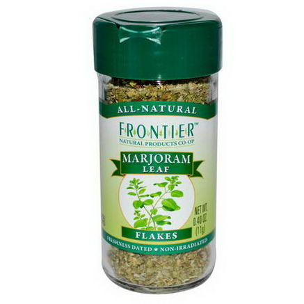Frontier Natural Products, Marjoram Leaf, Flakes, 0.40oz (11g)