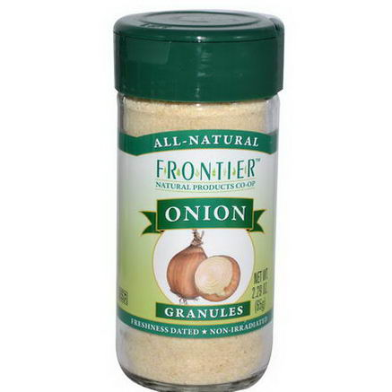 Frontier Natural Products, Onion, Granules, 2.29oz (65g)