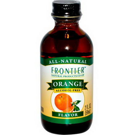 Frontier Natural Products, Orange Flavor, Alcohol-Free, 2 fl oz (59 ml)