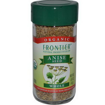 Frontier Natural Products, Organic Anise Seed, Whole, 1.50oz (42g)