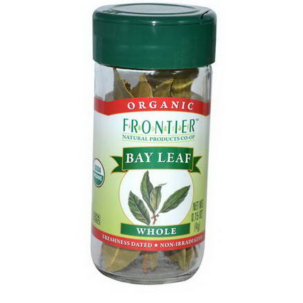 Frontier Natural Products, Organic Bay Leaf, Whole, 0.15oz (4g)