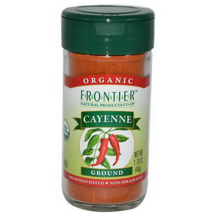 Frontier Natural Products, Organic Cayenne, Ground, 1.70oz (48g)