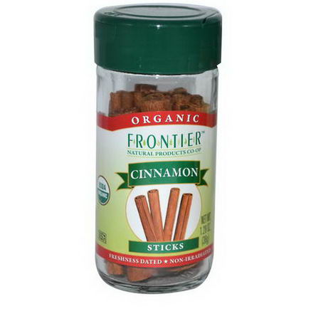 Frontier Natural Products, Organic Cinnamon, Sticks, 1.28oz (36g)