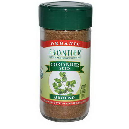 Frontier Natural Products, Organic Coriander Seed, Ground, 1.66oz (47g)