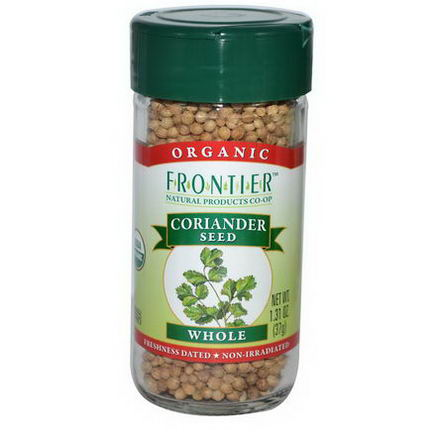 Frontier Natural Products, Organic Coriander Seed, Whole, 1.31oz (37g)