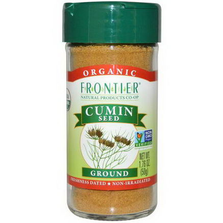 Frontier Natural Products, Organic Cumin Seed, Ground, 1.76oz (50g)