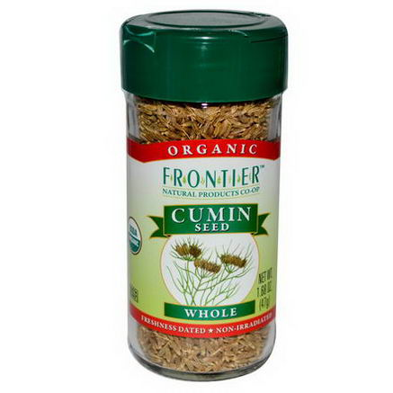 Frontier Natural Products, Organic Cumin Seed, Whole, 1.68oz (47g)