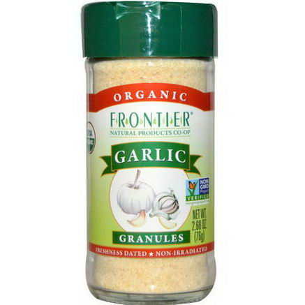 Frontier Natural Products, Organic, Garlic, Granules, 2.68oz (76g)