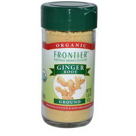 Frontier Natural Products, Organic Ginger Root, Ground, 1.50oz (42g)