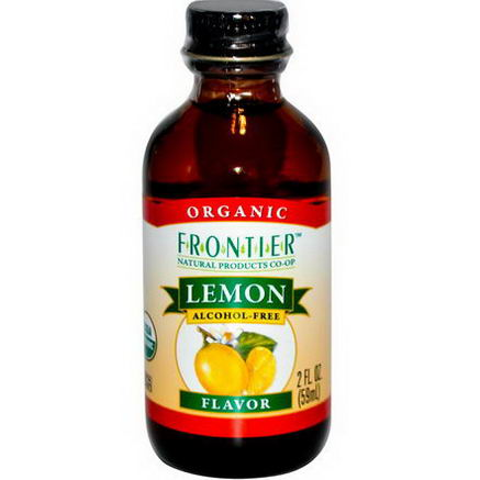 Frontier Natural Products, Organic Lemon Flavor, Alcohol-Free, 2 fl oz (59 ml)