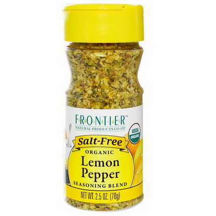 Frontier Natural Products, Organic Lemon Pepper Seasoning Blend, 2.5oz (70g)