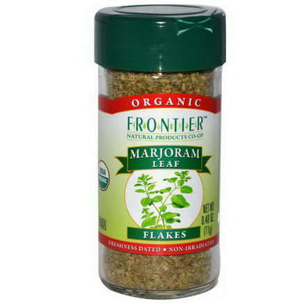 Frontier Natural Products, Organic Marjoram Leaf Flakes, 0.40oz (11g)