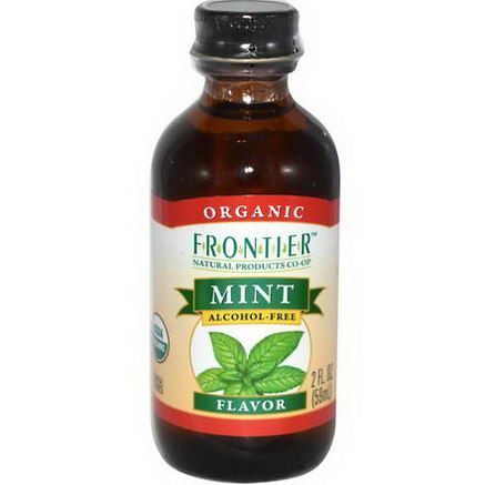 Frontier Natural Products, Organic Mint Flavor, Alcohol Free, 2 fl oz (59 ml)