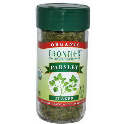 Frontier Natural Products, Organic Parsley Flakes, 0.24oz (6g)